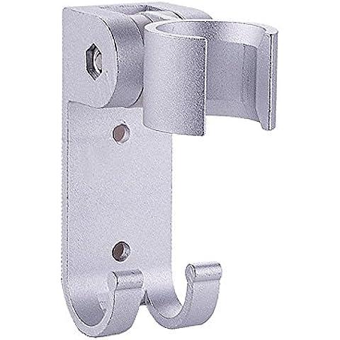 thanly portatile soffione per doccia in alluminio regolabile girevole gancio supporto da parete con supporto per doccetta, doccia accessori Componenti - Alluminio Horse Head