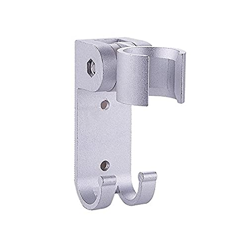 THANLY Portable Adjustable Rotatable Aluminum Bathroom Shower Head Bracket Showerhead Holder Wall Mount with Hanger Hook | Showering Accessory Components