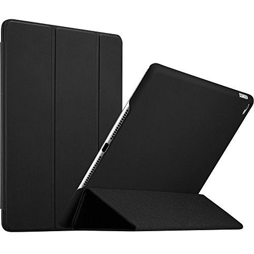 Gummi 2 (iPad Air 2 Hülle, ESR [Rubberized / Gummiert] PU Ledertasche Auto Aufwachen / Schlaf Funktion Schutzhülle mit Gummi-Spray für iPad Air 2 / iPad 6 (Schwarz))