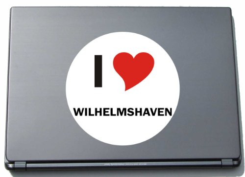 I Love Aufkleber Decal Sticker Laptopaufkleber Laptopskin 210 mm mit Stadtname WILHELMSHAVEN