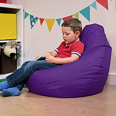 Bean Bag Bazaar Kids Gaming Chair - Large, 80cm x 70cm - Childrens Indoor Outdoor BeanBag (Purple, 2)