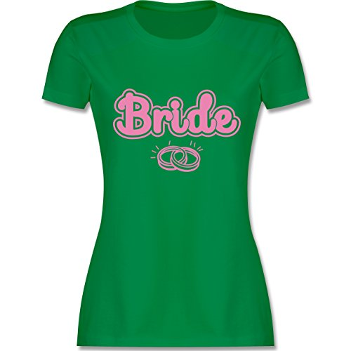 JGA Junggesellinnenabschied - Bride Eheringe - tailliertes Premium T-Shirt mit Rundhalsausschnitt für Damen Grün