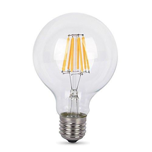 Preisvergleich Produktbild Albrillo 8W E27 LED Lampe ersetzt 60W,  warmweiß,  620 Lumen,  360° Abstrahwinkel