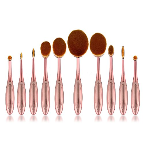 Preisvergleich Produktbild galwad® 100Deluxe Rose Rot Zahnbürste Elite Make-up Pinsel Set Powder Foundation Contour mit Fall Box