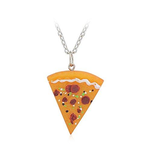 yiwa Fashion Creative Pizza Anhänger Ketten Einzigartige jedem Outfit für Männer Frauen Familie Freundschaft Weihnachtsgeschenk