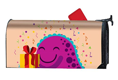 thday with Monster Magnetic Mailbox Cover Fits Standard Mailboxes 21 x 18 Inches Waterproof Canvas Mailbox Cover ()