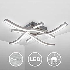 Idea Regalo - Plafoniera LED, luce bianca neutra 4000K, LED integrati 20W 2.000Lm, dimensione 42,5x42,5x7cm, lampada da soffitto moderna per salotto o cucina, lampadario in metallo color alluminio 230V IP20