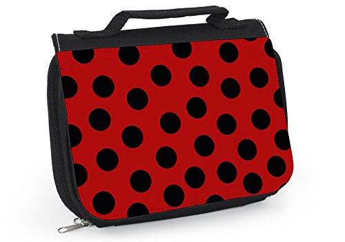 Kulturbeutel Ladybug Kosmetiktasche Marienkäfer Mädchen WT052 (rot)