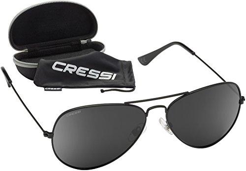 Cressi Nevada Sonnenbrille, Schwarz Linses, One Size