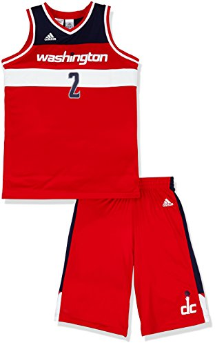 adidas Jungen Basketball-set Washington Mini Red/White, 176