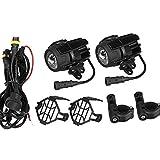 KNOSSOS Universal-Motorrad-LED-Nebelscheinwerfer-Zusatzscheinwerfer, der Scheinwerfer fährt
