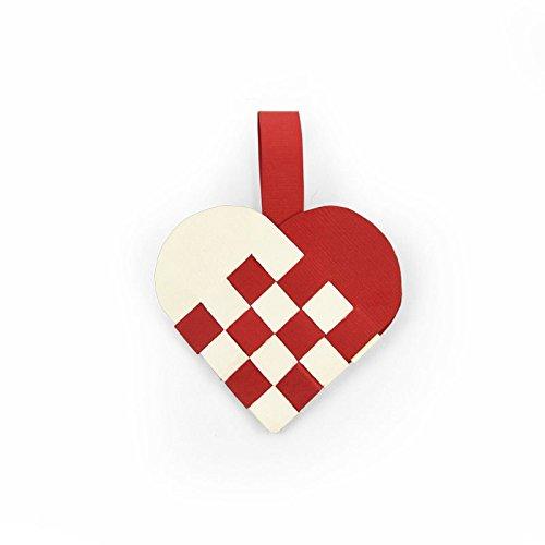 Sizzix Thinlits Stanzen Set 2 Stück-Gewebtes Herz, Steel, Multicolour, 23.5 x 8.1 x 0.2 cm