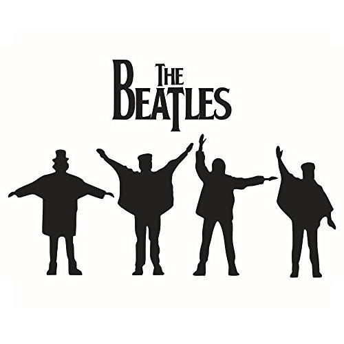 Winhappyhome DIE Beatles Wand Kunst Aufkleber für Schlafzimmer Wohnzimmer Kaffeehaus Hintergrund Entfernbare Dekor Abziehbilder
