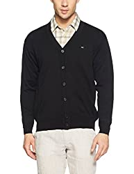 Monte Carlo Mens Wool Cardigan (8907678034882_1170513FC-118-38_Black)