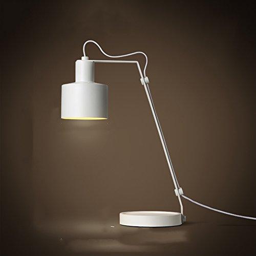 QiangDa Einfache und kreative Pers5onlichkeit Eisen LED Tischlampe Büro Schlafzimmer Nachttischlampe, 3 Farben Neue Lampe ( Farbe : B )