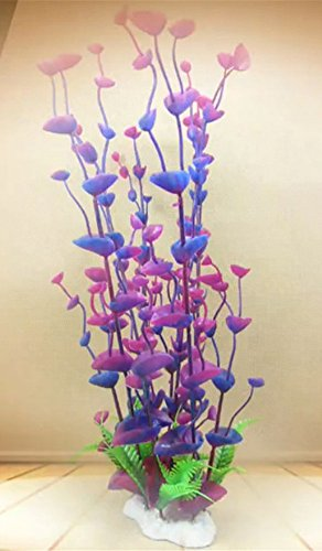 Dreammy Artificial Green Plant Aquarium Fish Tank Plastic Plants Decoration Ornament Tall Plant … 3