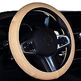 2019 Coole Auto Lenkradabdeckung Komfort Haltbarkeit Sicherheit für Männer (Beige)