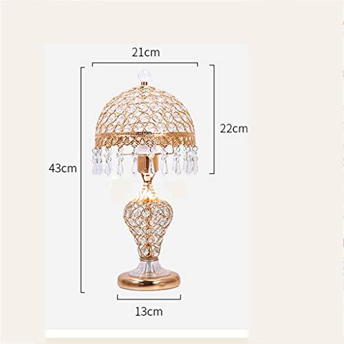 DEE Lights - Lampe de Table décorative créative Lampe de Table de Style européen Lampes à Poser en Cristal Lampe de Chambre à Coucher de Chevet Salon créatif et Chaleureux Lampe Moderne et Simple d'a