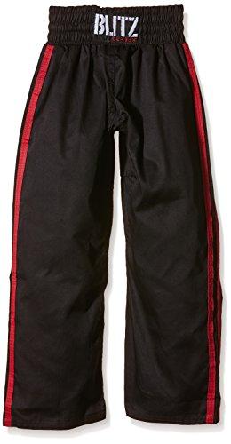 Blitz Classic Poly Baumwolle Vollkontakt Hose–Schwarz/Rot, 8/210cm, Unisex, Classic Poly Cotton Full Contact, schwarz/rot