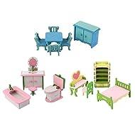 Sharplace 1/12 Casa Bmabole Miniatura Mobili Accessori Mini Modelli Collezione Decorazione Domestica Legno Multicolori