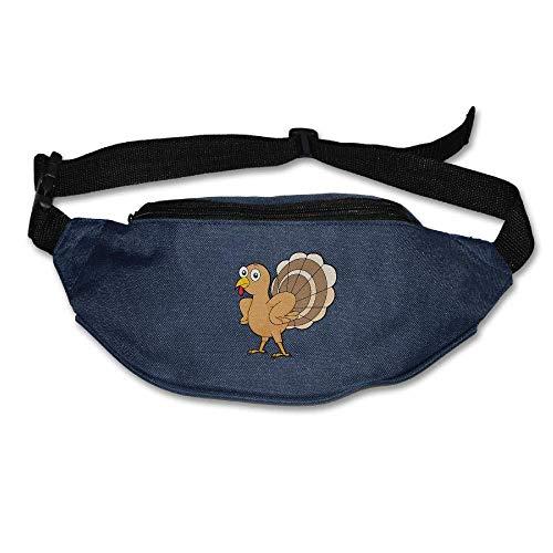 Cartoon Turkey Clipart Thanksgiving Waist Bag Fanny Pack/Hip Pack Bum Bag for Man Women Sports Travel Running Hiking/Money iPhone 6/7 6S / 7S Plus Samsung S5/S6 -