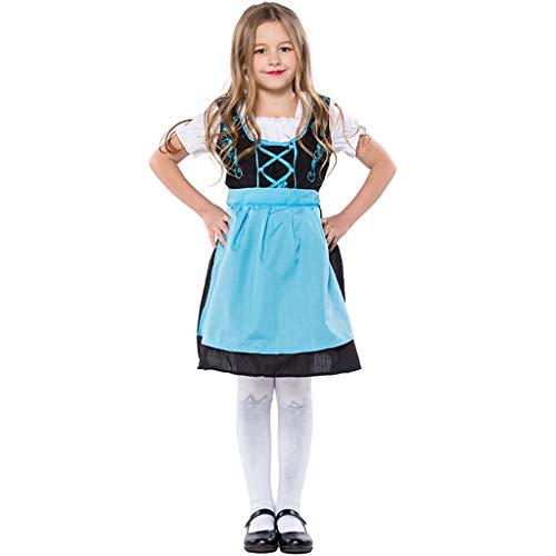 CJJC Mädchen Oktoberfest Kostüm, Kreative Nette Kinder Bühne Kindergarten Leistung Kleidung Für Cosplay Festival Party Verwenden M (Nette Kreative Kostüm Kinder)
