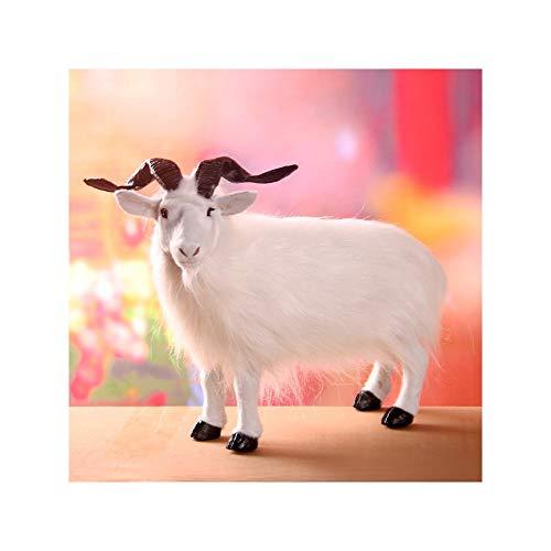 TKHCOLDM Simulation Ziege Spielzeug Tiermodell Handwerk Heimtextilien als Geschenk für Kinder, Heimtextilien, Freunde senden, weiß 1 nur 35 * 27