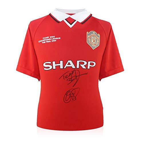 Teddy Sheringham & Ole Gunnar Solskjaer Signed 1999 Manchester United Champions League Shirt