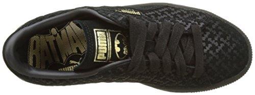 Puma Batman Suede Fm Jr, Sneakers Basses Mixte Enfant Noir (Puma Black-puma Black-puma Team Gold 01)