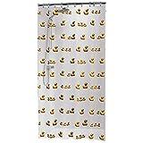 Sealskin Textil Duschvorhang Duckling, Farbe: Gelb, B x H: 180 x 200 cm