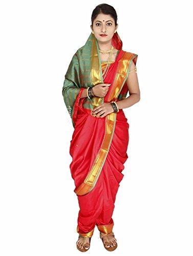 Women'S Cottage Cotton Silk Saree (Nvsr1002Red_Red)