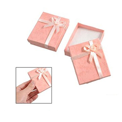 2-x-bowtie-accent-cardboard-gift-cases-present-boxes-bracelet-holder-peach-pink