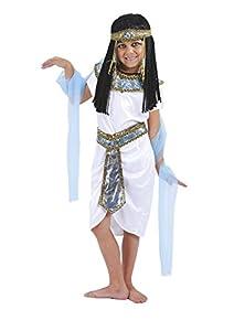 FIORI PAOLO-Disfraz de Princesa del Nilo para niñas Niña M (5-7 anni) Bianco