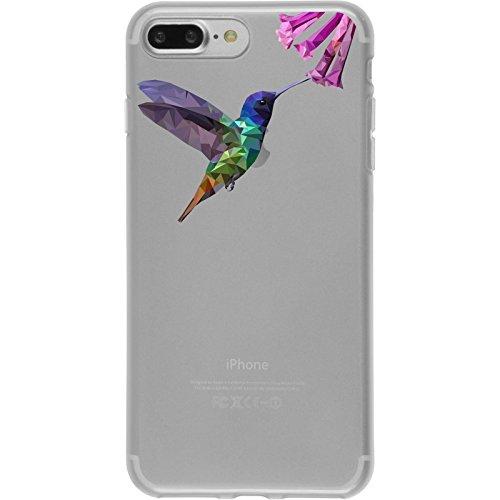 PhoneNatic Apple iPhone 8 Plus Custodia in Silicone vettore animali M4 Case iPhone 8 Plus + pellicola protettiva Disign:03