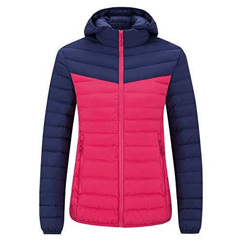Hanomes Damen pullover, Frauen Winter Plus Größe Farbe Collision Hoodie Verdickte Baumwolle Outwear Mantel