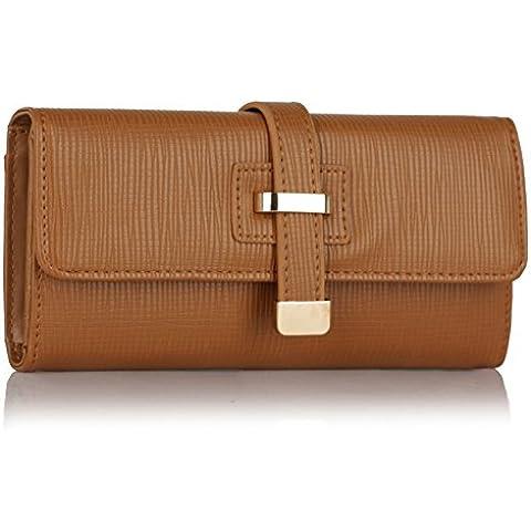 LeahWard ECOPELLE Donna elegante Flap portamonete borsa di attrezzi borsetta, borsellino, portamonete Coin Borsa 1040 141