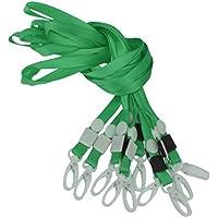 10x Portabadge Lanyard Laccio da Collo Di Plastica Del Telefono Cinturino Catenaccio Stile - Multi Colori -