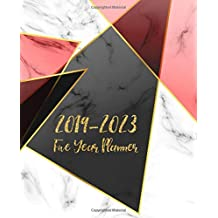 Five Year Planner 2019-2023: Monthly Schedule Organizer - Agenda Planner For The Next Five Years, 60 Months Calendar January 2019 - December 2023 | Marble Gold Design