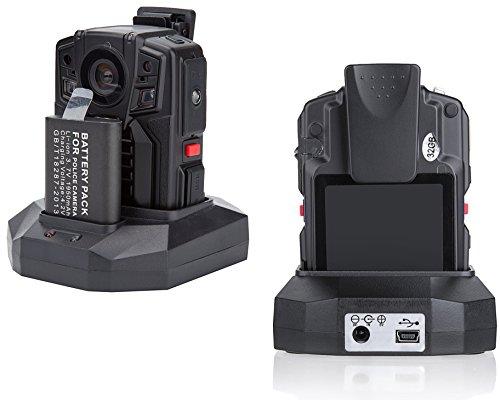 Angin-Tech Cam102 Infrarot-Nachtsicht HD 1080P Polizei Körper getragen Videokamera Sicherheit IR-Cam Eingebauter GPS-Unterstützung Bewegungserkennung + 16GB TF-Karte (mit Karte 16GB TF) - 4
