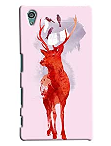 Blue Throat Red Hot Deer Printed Designer Back Cover For Sony Xperia Z5