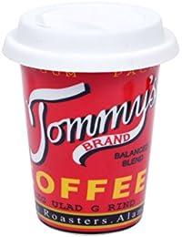 Kaffee to Go Becher Porzellan Coffee-to-go-Becher mit Silikondeckel Kaffeebecher Retro Kaffeetasse von Alsino