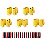 LHI XT-60 XT60 Male Female Bullet Connectors Plugs For RC Lipo Battery (5 Pairs)