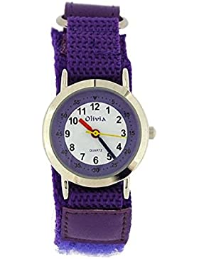 The Olivia Collection f1545.29purple–Uhr, Stoff-Armband Violett