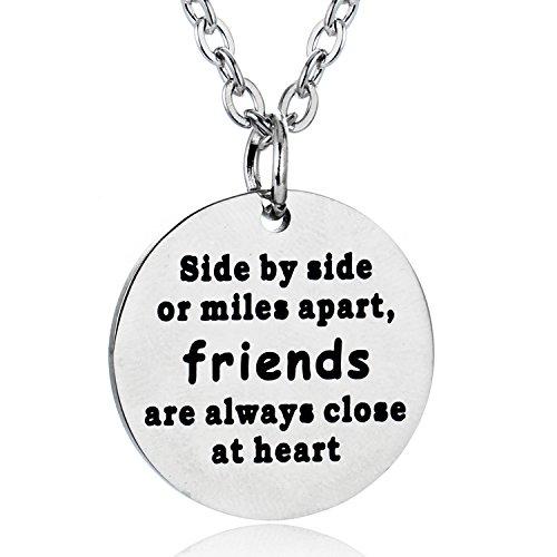 bespmosp mejor amigo colgante collar, joyería regalo para amigo, de larga distancia amistad regalo
