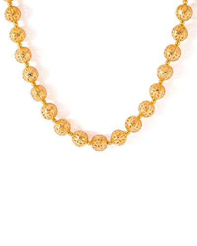 GOLDEN BEADED TRENDY NECK-PIECE