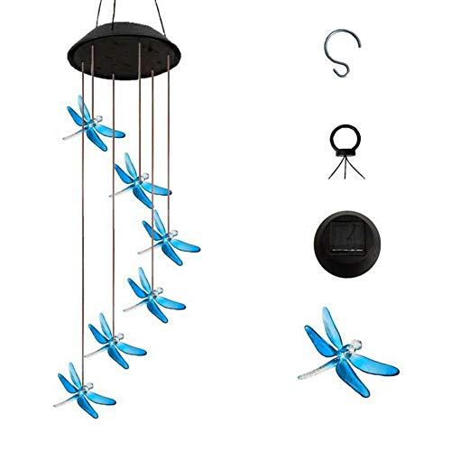 genialkiki Solarbetriebenes LED-Windspiel, tragbares Farbwechselspiralenspinner-Windspiel Beste Erinnerungsgeburtstagsgeschenke Dekorative romantische Patio-Lichter für Yard Garden Home -