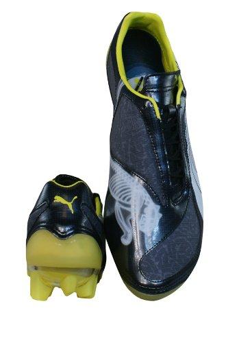 Puma V1 08 tricks ifg 10162902, Football Homme Noir, anthracite, jaune et blanc