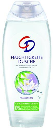 CD Feuchtigkeitsdusche Wasserlilie / Duschgel geeignet für empfindliche Haut im Vorratspack / Vegan / 6er Pack (6 x 250 ml)