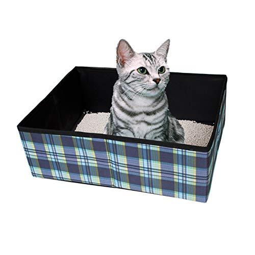 JYZ Katzenklo, Faltbare Katzentoilette im Freien leichtes weiches, Einfache Reinigung Katzenklo...