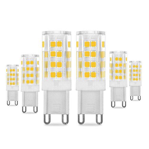 Bombillas LED G9 de 5W, Pursnic Equivalentes a Lámparas halógenas de 40W,...